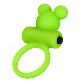 Зеленое виброкольцо на пенис A-Toys
