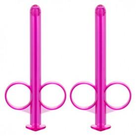 Набор из 2 лиловых шприцев для введения лубриканта Lube Tube