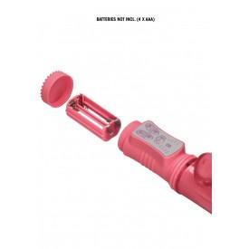 Розовый вибратор-кролик Rotating Bubbles - 23,2 см.